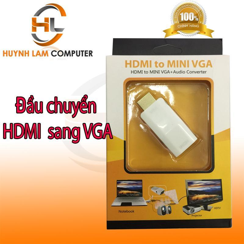 Bảng giá Đầu chuyển đổi HDMI sang VGA có tiếng dùng cho màn hình máy tính, tivi, máy chiếu Phong Vũ