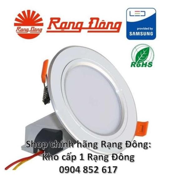 5 Đèn LED âm trần mạ bạc 9W đổi 3 màu, SAMSUNG chipLED