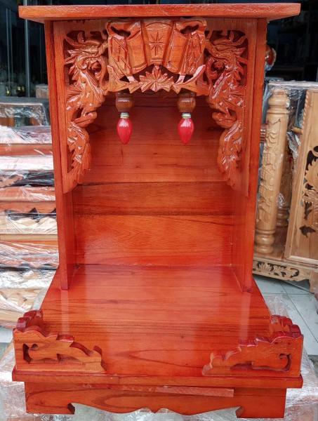 Bảng giá Bàn thờ thần tài ông địa gỗ xoan ngang 35 cm màu đỏ