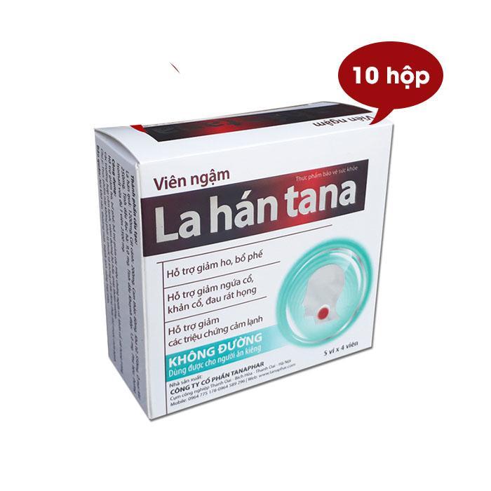 Hình ảnh Combo 10 hộp kẹo ngâm ho La Hán TANA không đường, dùng cho người tiểu đường, ăn kiêng (20 viên/hộp)