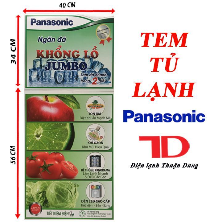 Bảng giá TEM DÁN TỦ LẠNH PANASONIC TẶNG KÈM BĂNG KEO 2 MẶT Điện máy Pico