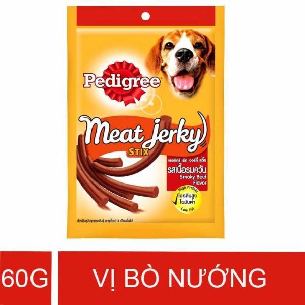 Thức ăn thưởng cho chó vị Bò nướng que 60g – Pedigree Meat Jerky Smoky Stix Beef Flavor – PD 003