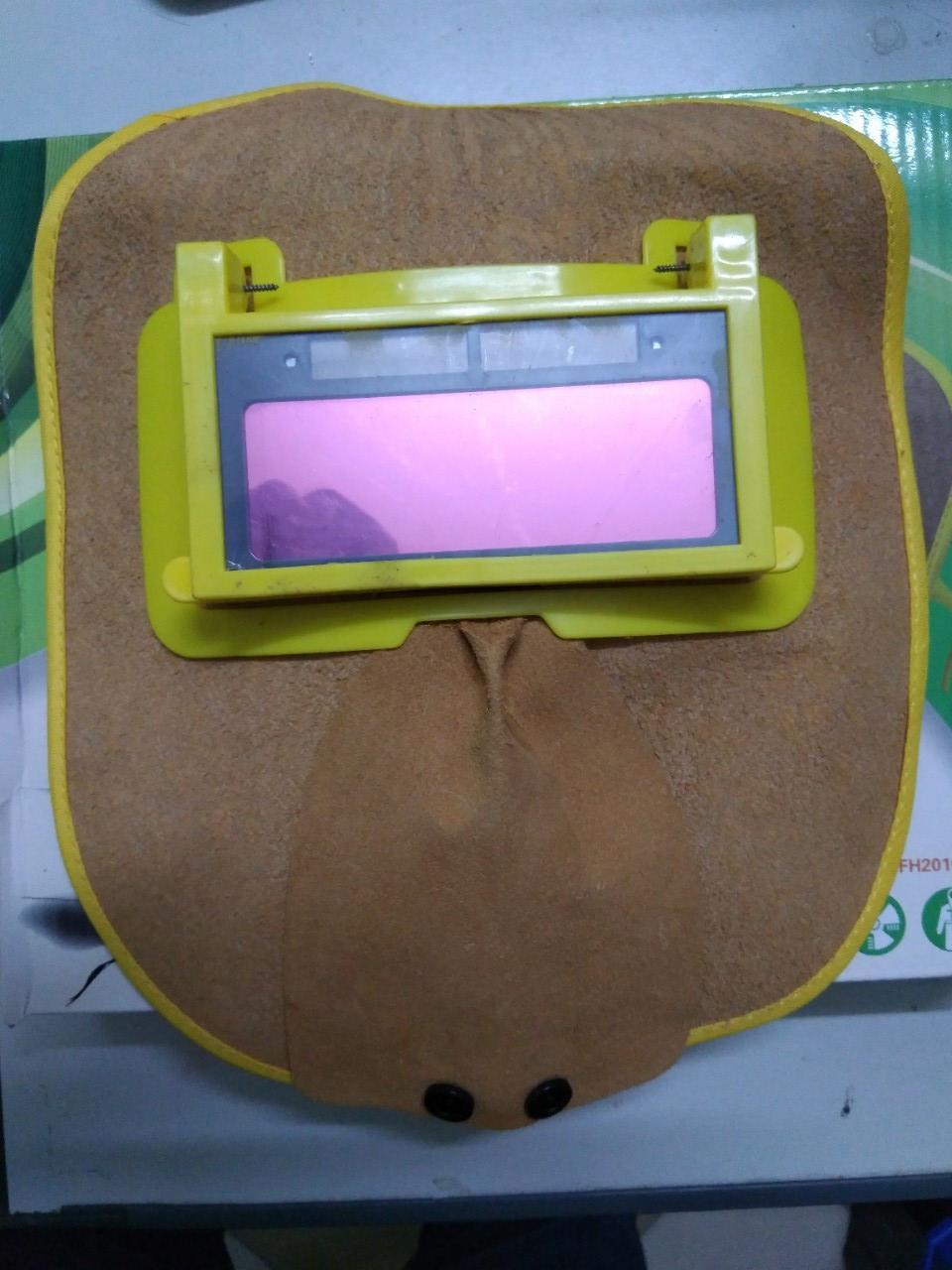 Mặt nạ hàn điện tử bằng da bò thật độ nhạy cao chống cháy chống sỉ hàn