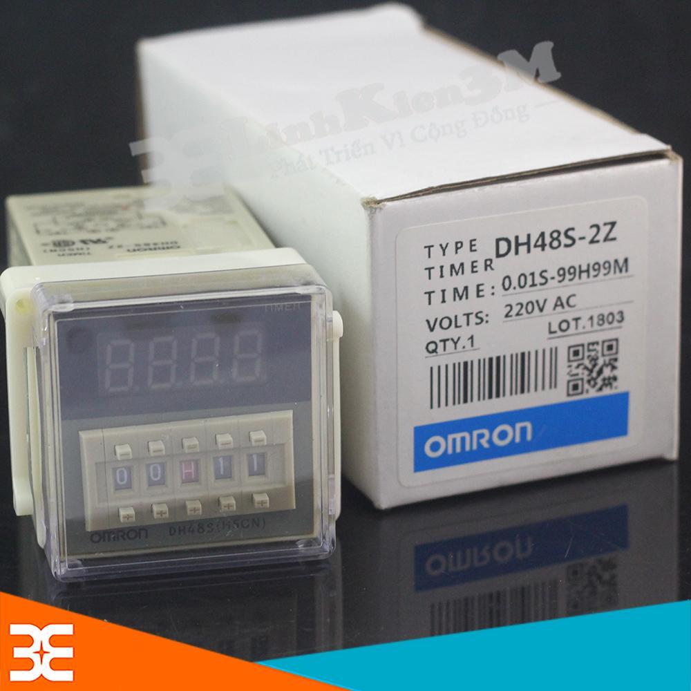 Rơ le Thời Gian DH48S-2Z 220VAC 0.1S-99H (2 Cặp tiếp Điểm)