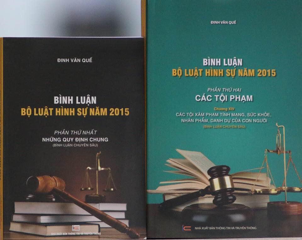 Mua Bộ Bình luận Bộ Luật Hình Sự 2015-Những Quy Định Chung và Phần Các Tội Phạm (Chương 14)