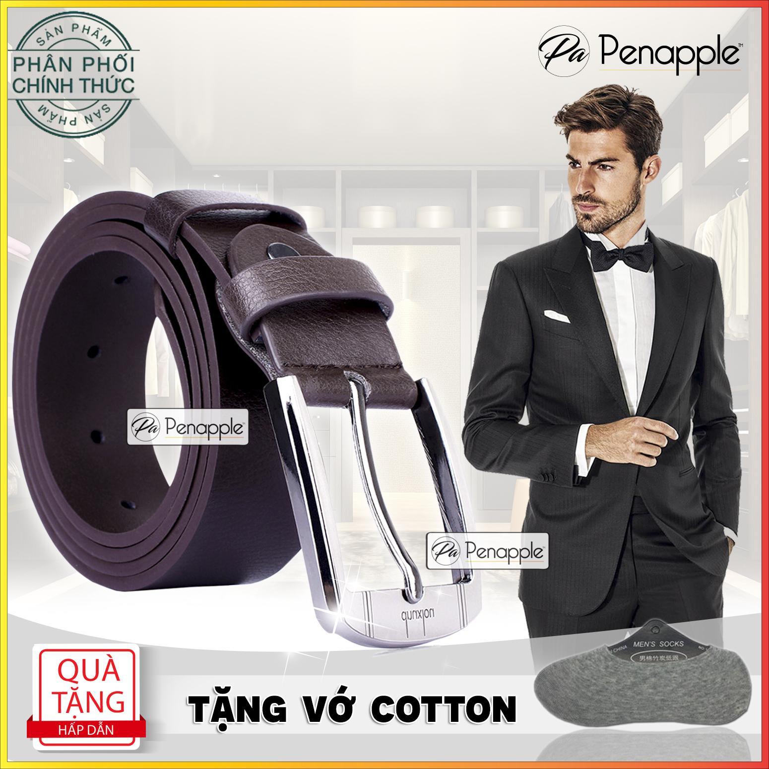 Thắt lưng nam dây nịt nam mặt cài kim móc kiểu dáng cổ điển - sản xuất tại Hồng Kông - HÃNG PHÂN PHỐI CHÍNH THỨC