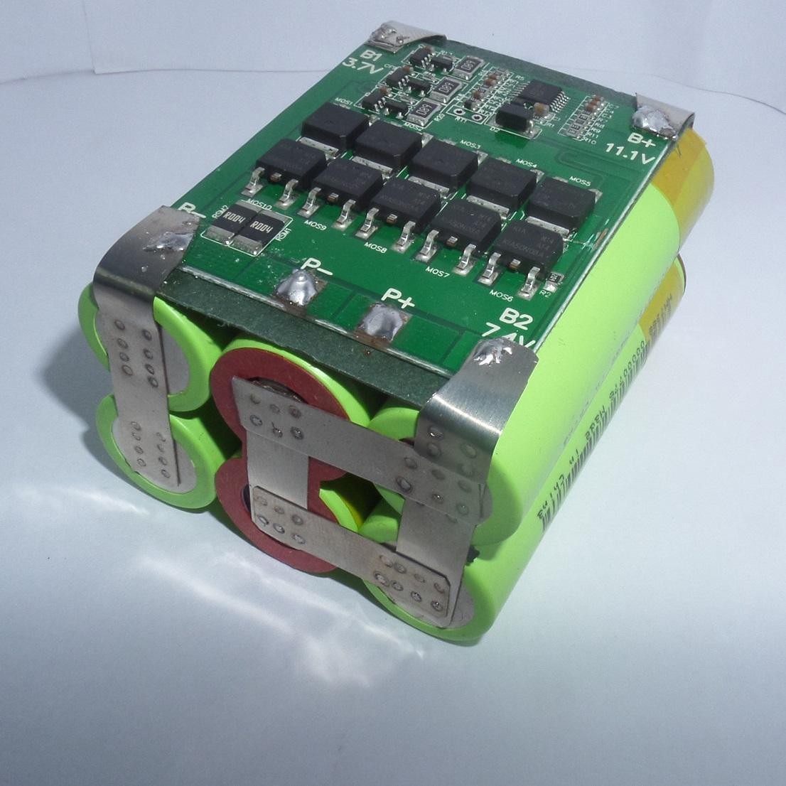 Pack PIN NATIONAL LiShen 3S2P dung lượng 4AH - Dòng xả 30A - Full mạch bảo vệ và sạc cân bằng