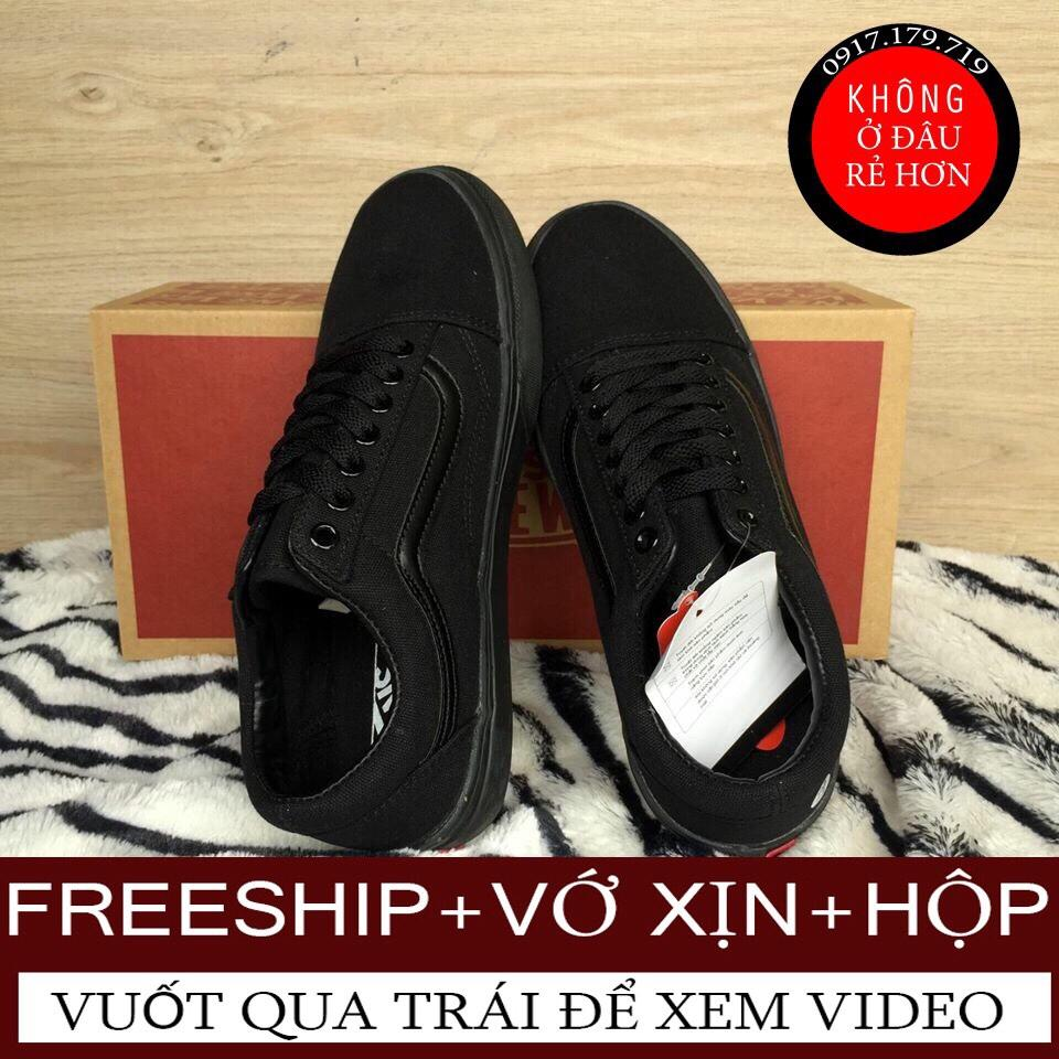 Hình ảnh [TẶNG VỚ+HỘP+FREESHIP TOÀN QUỐC] Giày Vans Old Skool Full Black Nam Nữ Hàng VNXK Có Video