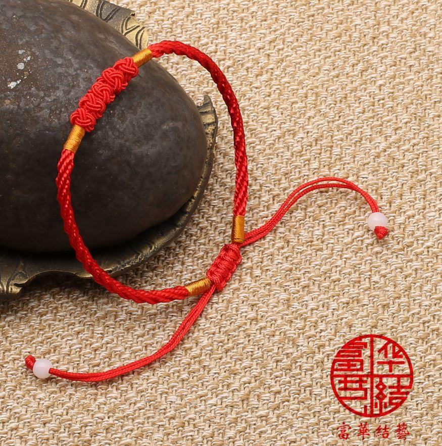 Hình ảnh Vòng Tay EBI Charm Chỉ Màu Ngũ Sắc Dây Rút Đỏ May Mắn Bình An