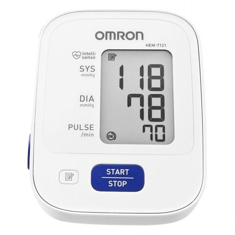 Máy đo huyết áp bắp tay Omron HEM-7121 (Trắng)