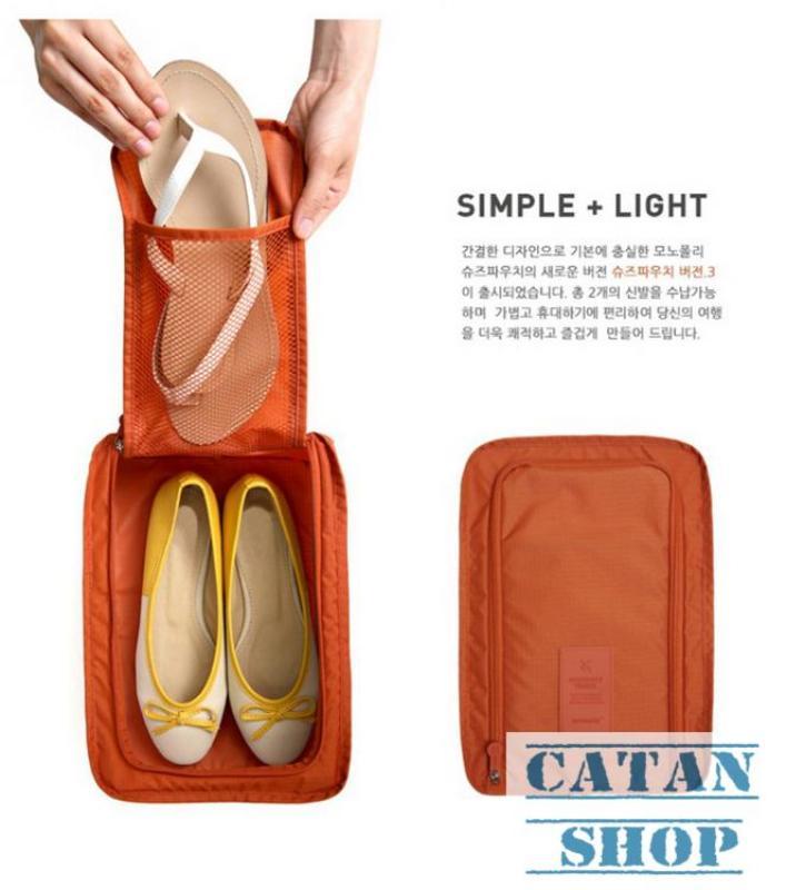 Túi Đựng Giày Du Lịch Hàn Quốc,chống thấm ngăn mùi, xếp gọn đa năng trong vali túi Bag in Bag DL05-TGiay