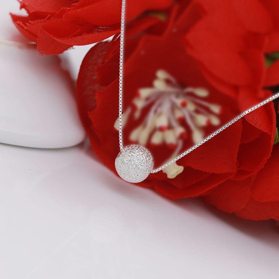 Lazada Khuyến Mãi Khi Mua Vòng Cổ Bạc, Vòng Cổ Bạc Nữ Hạt Bi Tròn Trắng DB1583 - Bảo Ngọc Jewelry - Antamshoptainha