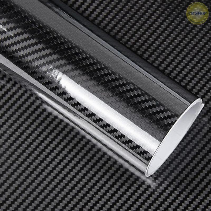 Combo 2 Tấm Decal Cacbon 5D dùng để dán Xe Hơi (30cm x 100cm)