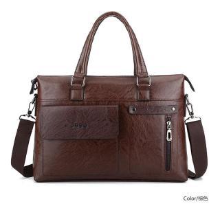 Túi xách da công sở cao cấp JEEP BULUO T06 (KT 39x29x7cm), vừa laptop 15inch.Túi đeo chéo. Túi đựng laptop. Cặp xach laptop - MIDEA MART thumbnail