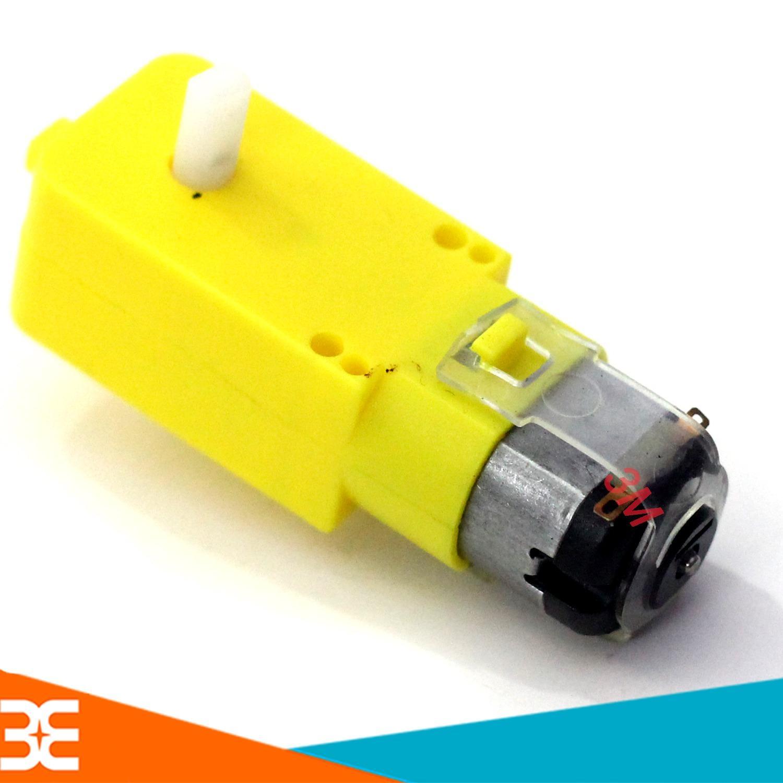 Hình ảnh Động Cơ Giảm Tốc Mini 3V-6V-9V Chế Xe Mô Hình ( Vàng )