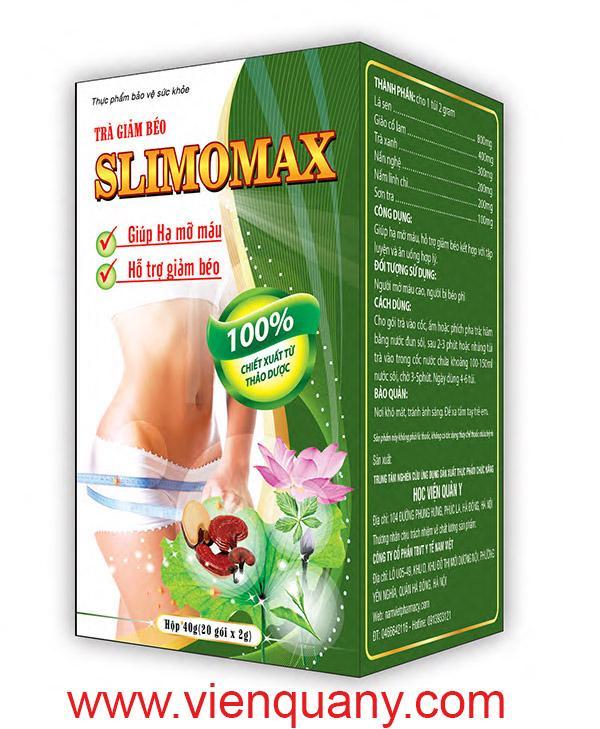 TRÀ GIẢM CÂN QUÂN Y SLIMOMAX nhập khẩu