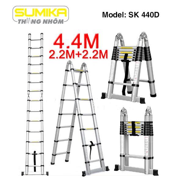 Thang nhôm rút đôi Sumika SK 440D - 4.4m