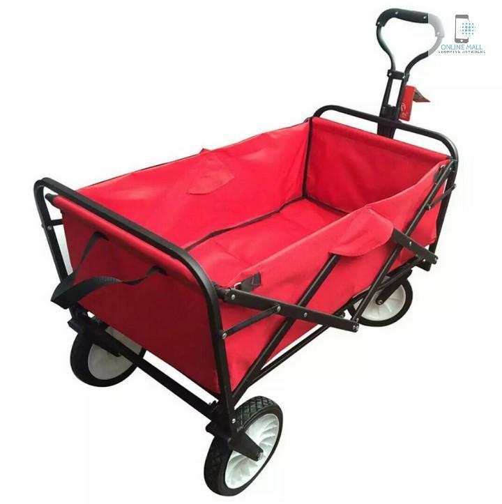 Xe đẩy hành lý xếp gọn 260L EuroQuality (Đỏ, Dark Blue) - Online Mall