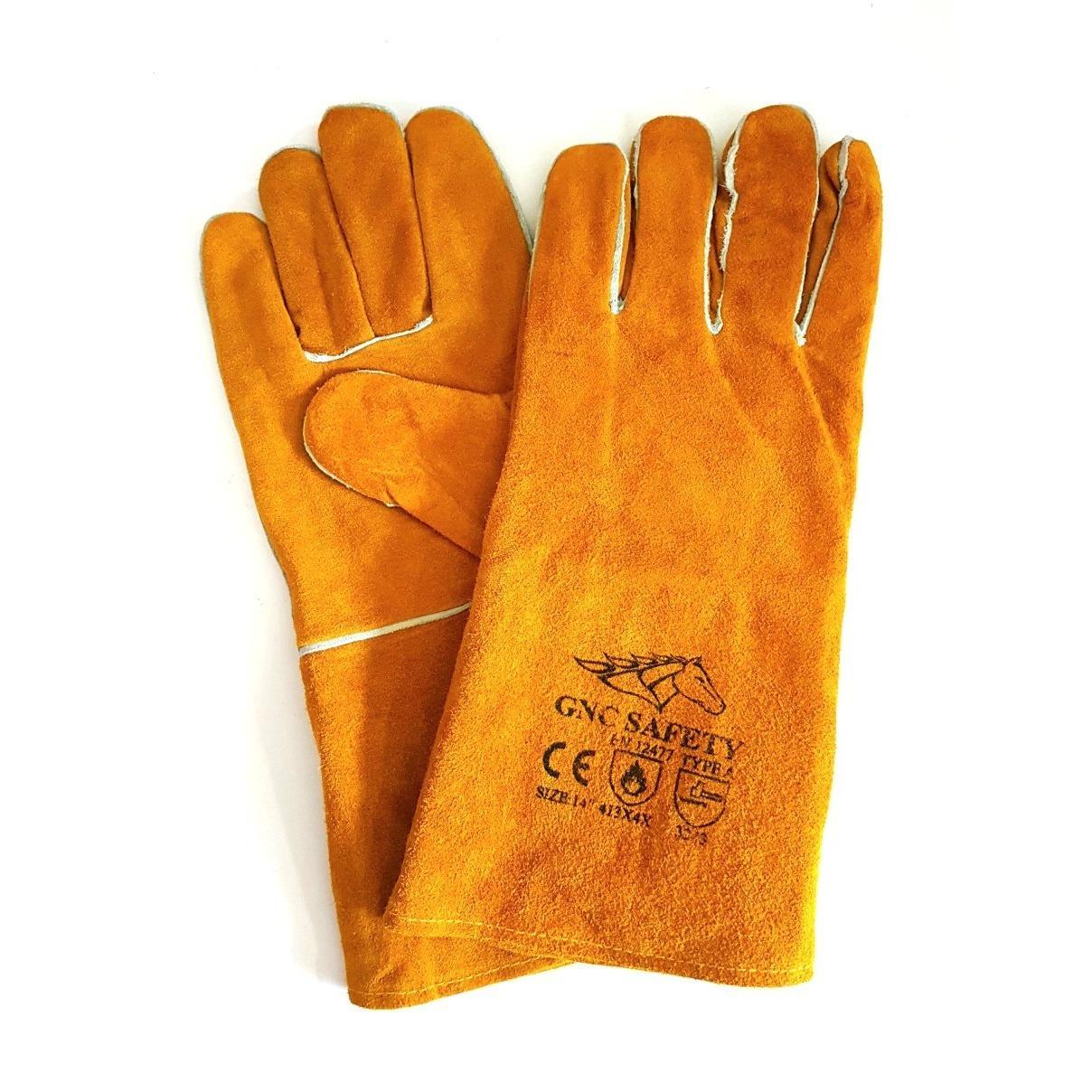 Hình ảnh Găng tay da thợ hàn GNC màu cam(Orange)