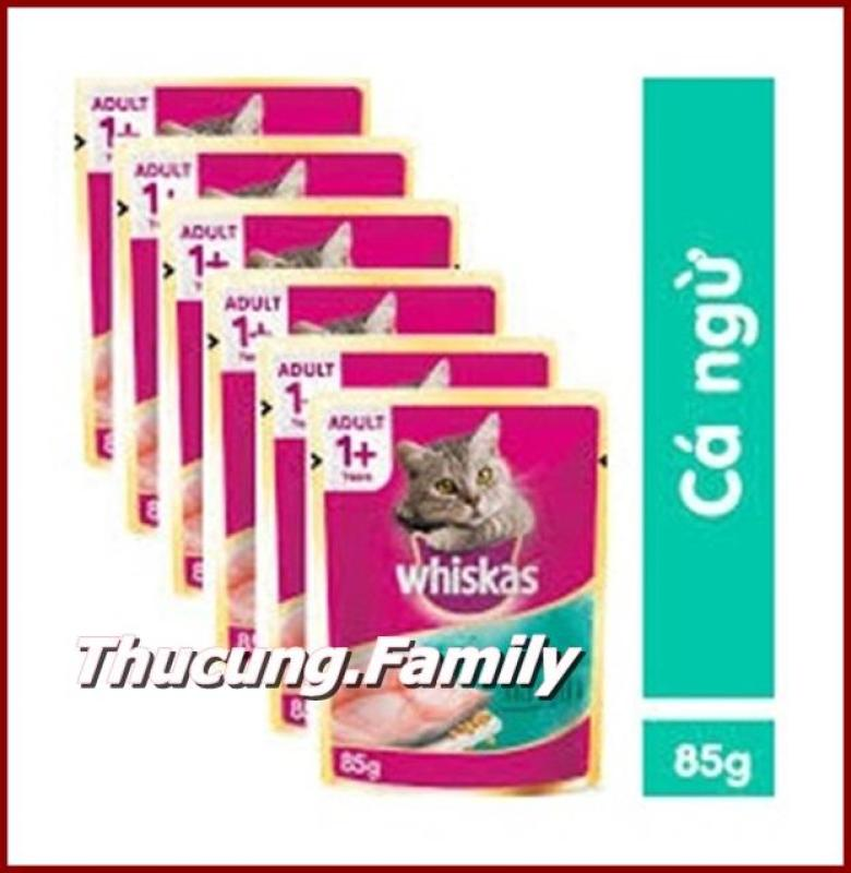 Combo 6 gói Pate Whiskas- Vị Cá ngừ cho Mèo mọi lứa tuổi. 85g/gói