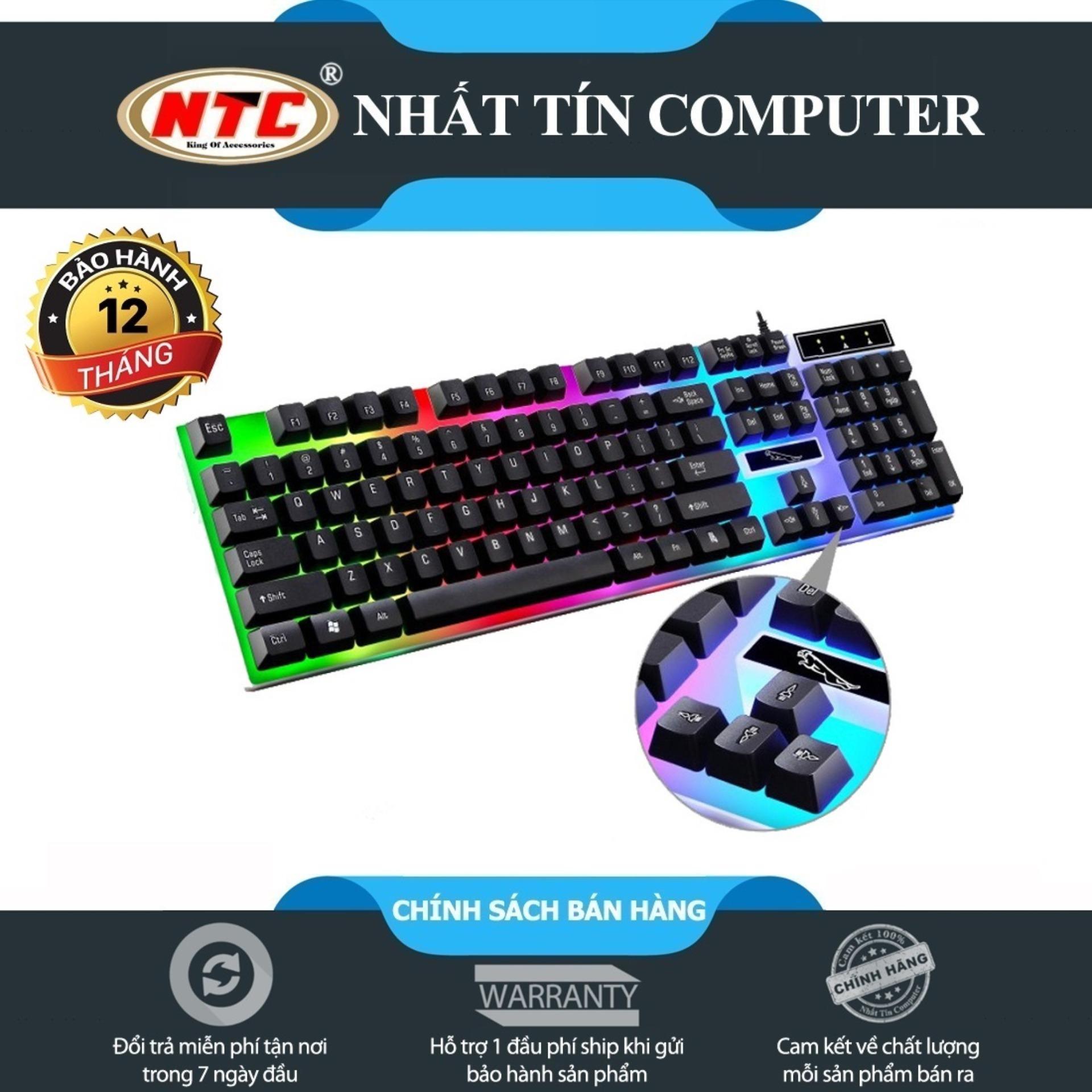 Bàn phím giả cơ dành cho game thủ NTC G21 led đa màu (Đen)