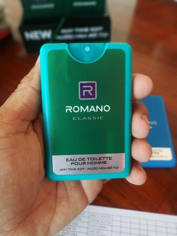 Nước hoa bỏ túi Romano 18ml cao cấp