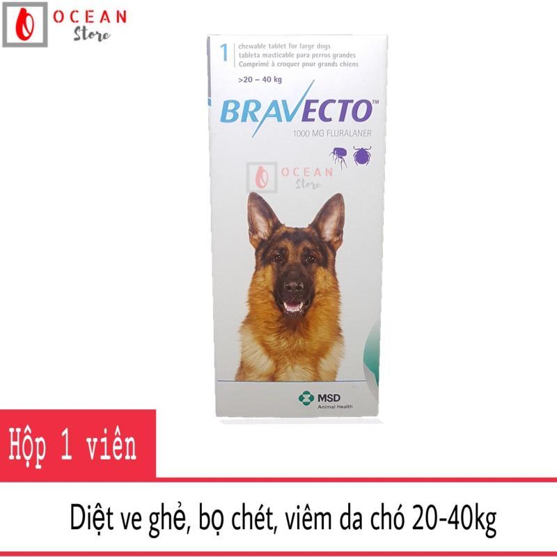 Thuốc trị ve ghẻ, viêm da, demodex cho chó - Bravecto chó 20-40kg