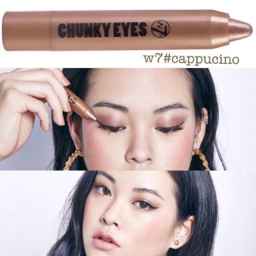 Mã Khuyến Mại But Sap Mau Mắt Nhũ W7 Chunky Eyes 2 5G Mau Capuchino