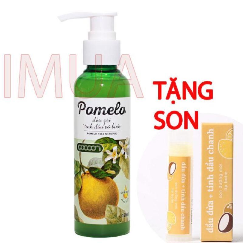 Dầu gội vỏ bưởi Pomelo Cocoon 130ml giúp ngăn rụng tóc Tặng son môi