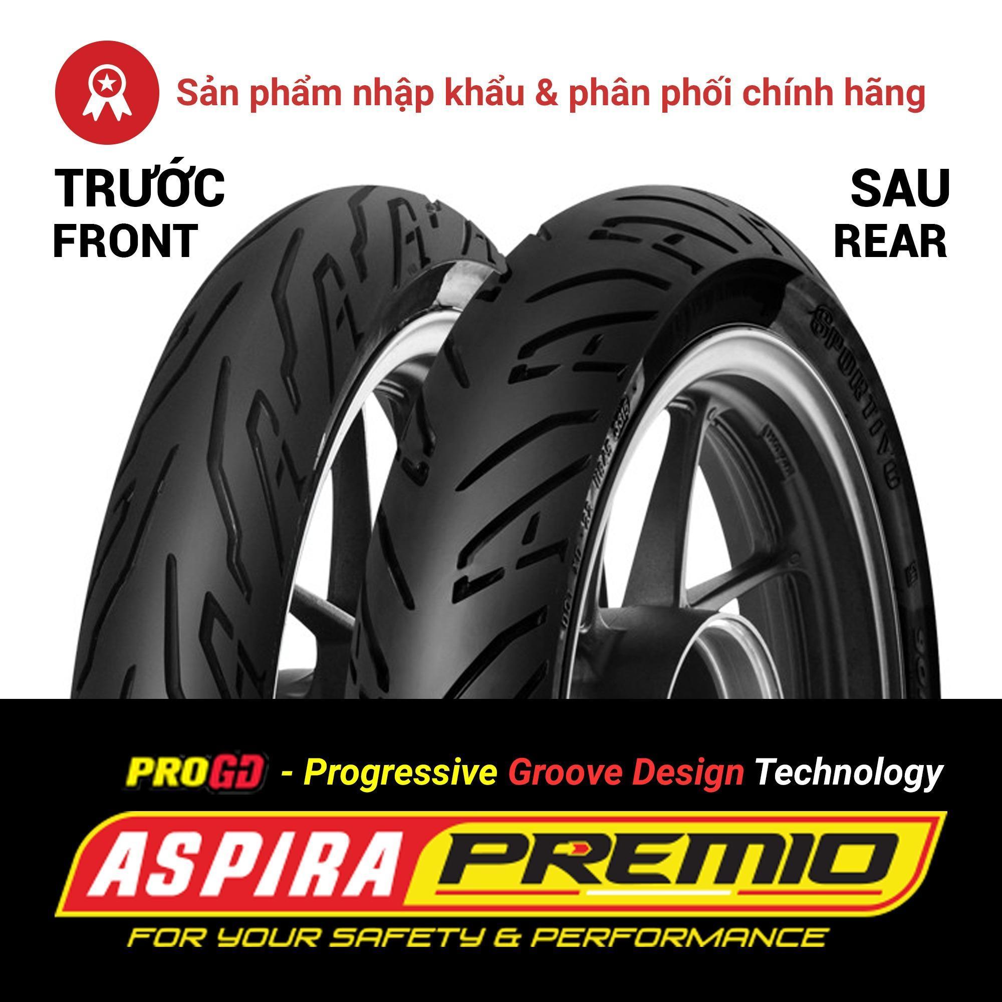 Thay lốp (vỏ) trước 110/80-14 TL Aspira Premio Sportivo cho xe tay ga Yamaha NVX