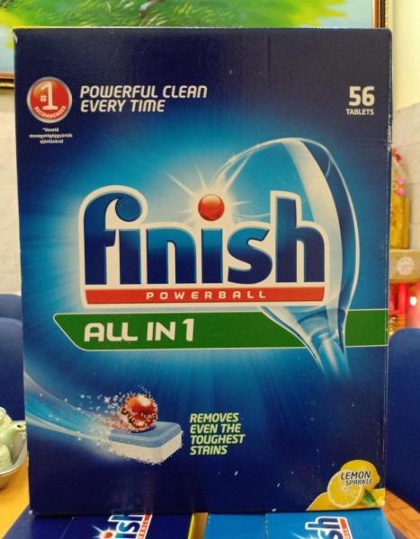 Viên rửa bát Finish all in 1 (Đức) 56 viên
