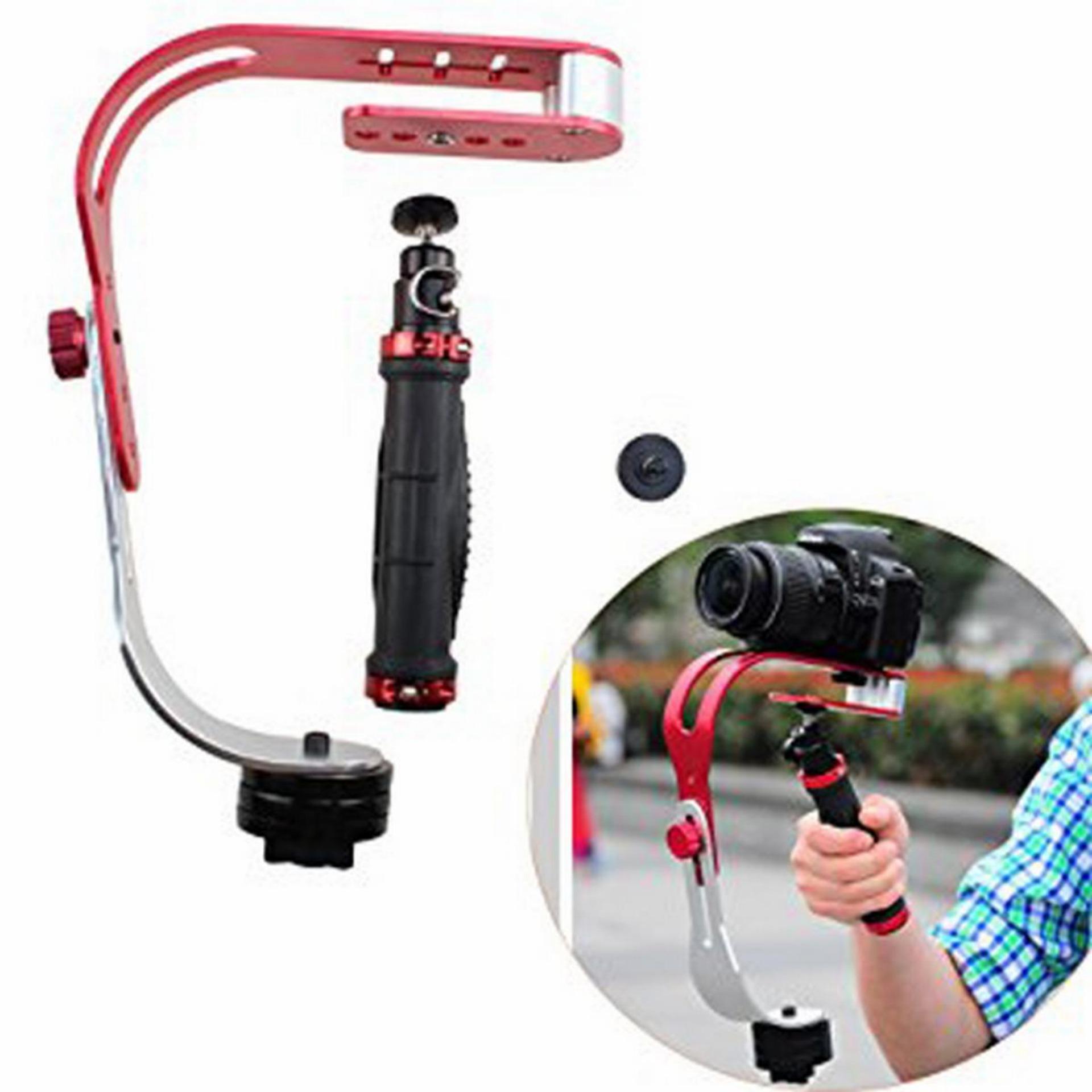 Hình ảnh Tay cầm chống rung Stabilizer cho điện thoại, camera hành trình (Đỏ trắng)