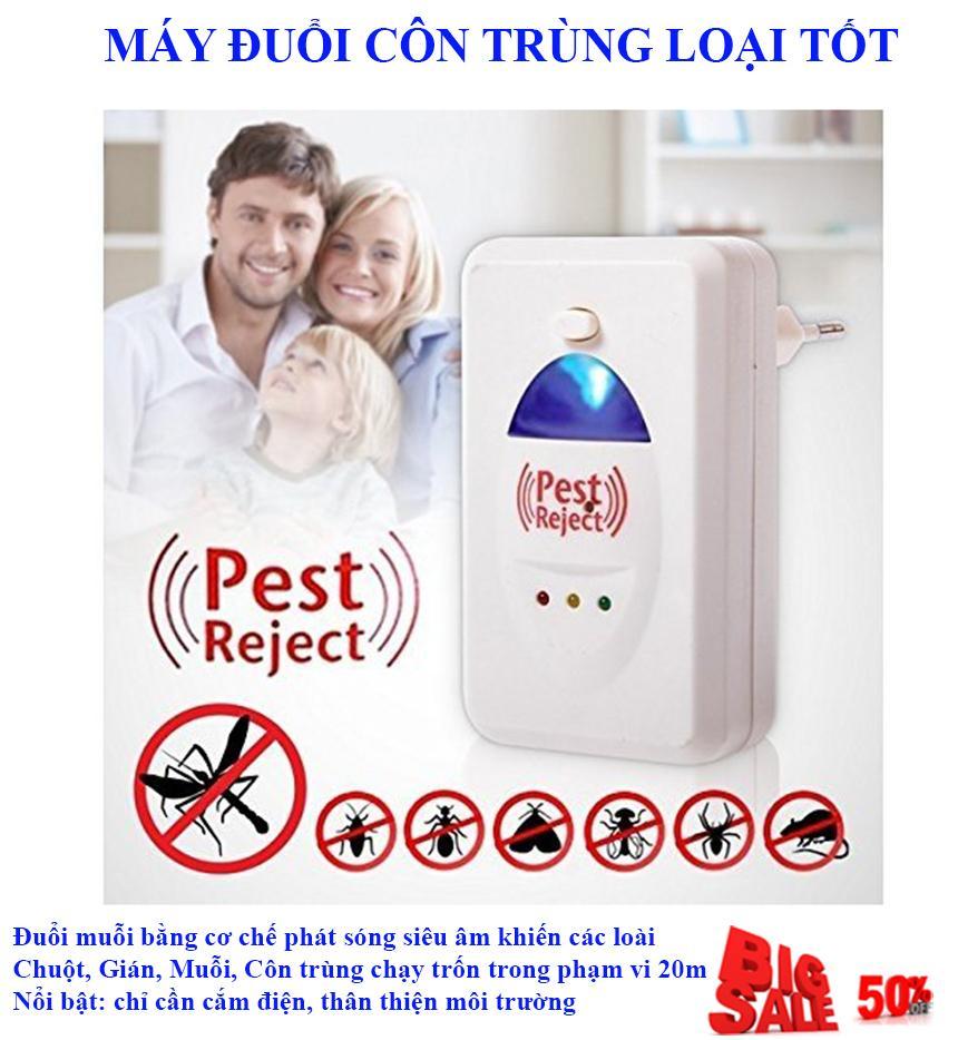 Tac Dung Den Bat Muoi Không Hiệu Quả Bằng, Máy Đuổi Côn Trùng Pest Reject NSK2008567 Loại Tốt, ( Đuổi Chuột, Ruồi, Muỗi, Rán ), Máy Đuổi Các Loại Côn Trùng Bằng Sóng Âm Giảm Tới 50%, Hiệu Quả Tốt , An Toàn Khi Sử Dụng