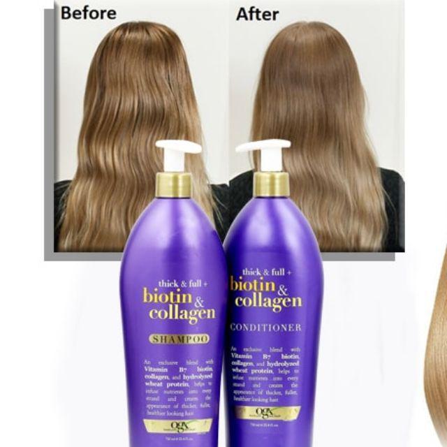 Dầu gội đầu Trị rụng tóc Biotin & Collagen OGX, 750ml, Có vòi Nhập khẩu Mỹ