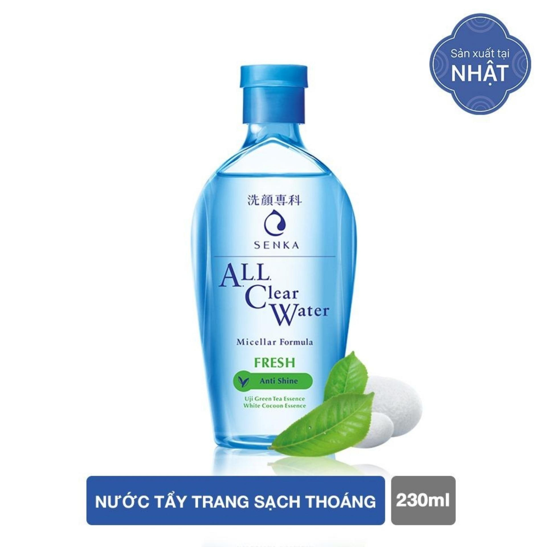 Nước tẩy trang Senka All Clear Water Miceller Formula Fresh 230ml (code 15288)