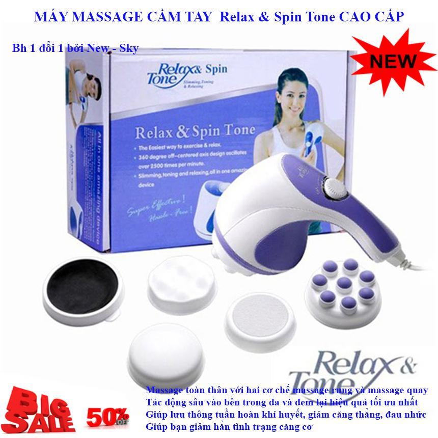 Giảm Cân Nhanh Chóng, Máy Massage Cầm Tay Relax & Spin Tone NSK 302 Cao Cấp, Máy Massage Toàn Thân Giá rẻ, Chất Lượng Cao, Siêu Tiện Lợi, Giảm Giá Lên Đến 50% - Bh Uy Tín 1 Đổi 1 Bởi New - Sky
