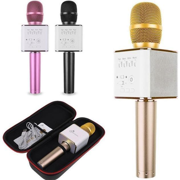 Bán Microphone Karaoke Bluetooth Micro Q9 Tặng Gia Đỡ Điện Thoại Con Lợn Có Thương Hiệu Rẻ