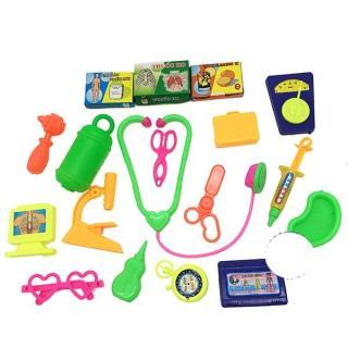Bộ đồ chơi túi bác sĩ Đồng Sanh 18 món dụng cụ y tế bằng nhựa thumbnail