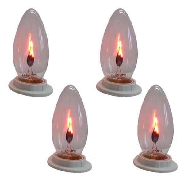 Bộ 4 bóng đèn lửa trang trí 3W
