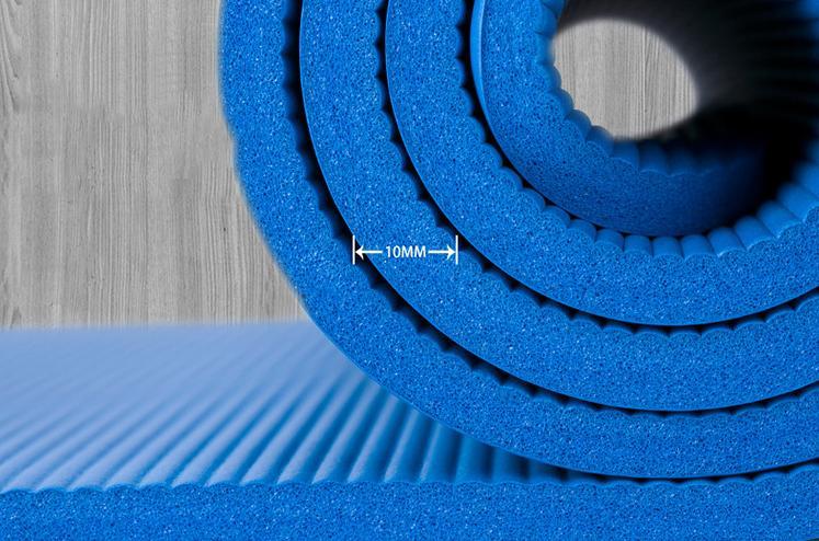 Hình ảnh Thảm tập Yoga loại siêu bền, dày 10mm TPE (Tặng kèm túi đựng)