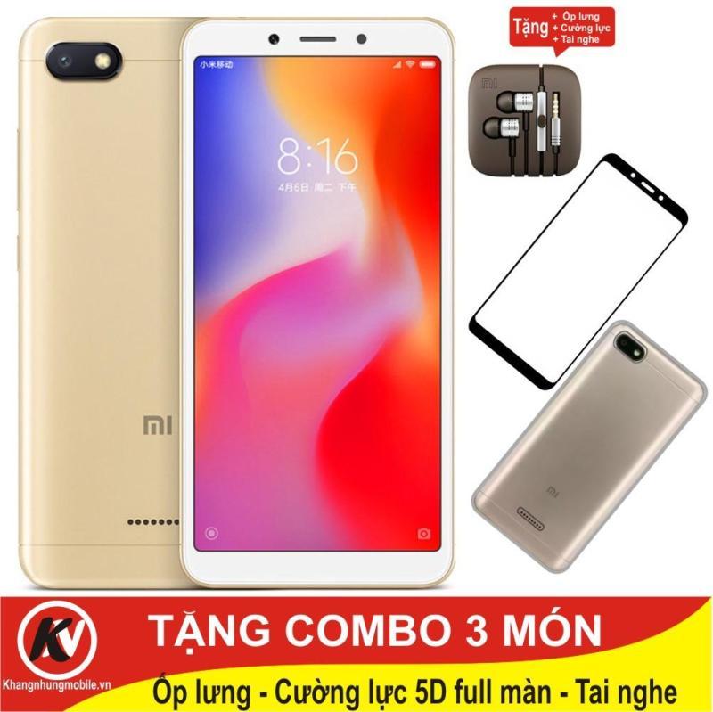 Xiaomi Redmi 6A, Redmi6A 16GB Ram 2GB Kim Nhung + Ốp lưng + Cường lực full màn 5D + Tai nghe
