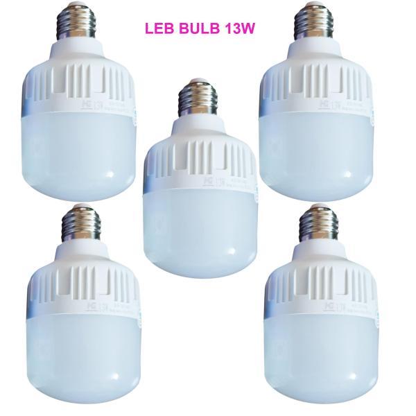 Bộ 5 bóng đèn led Bulb chống nước 13w  ánh sáng trắng