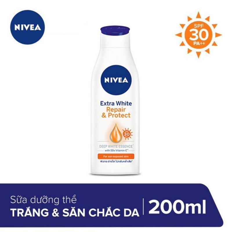 Sữa Dưỡng Thể Săn Chắc Và Dưỡng Trắng Da NIVEA 200ml _ 88310 nhập khẩu