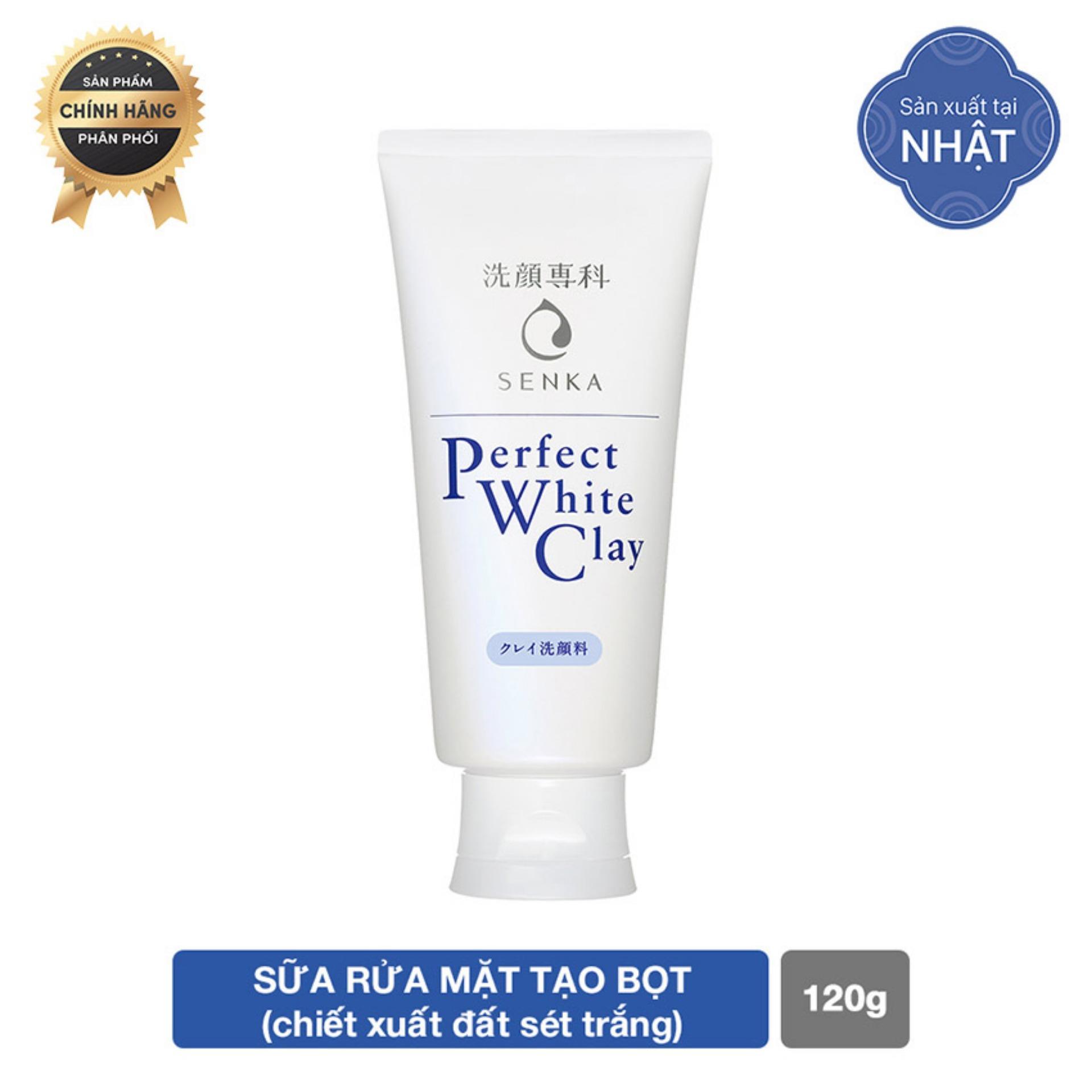 Hình ảnh Sữa rửa mặt chiết xuất đất sét trắng Senka Perfect White Clay 120g