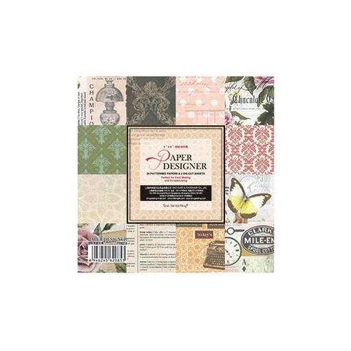 Mua PAPER PACK - GIẤY SCRAPBOOK QUYỂN HỌA TIẾT MILE TEXT 6*6 inch_GHM91