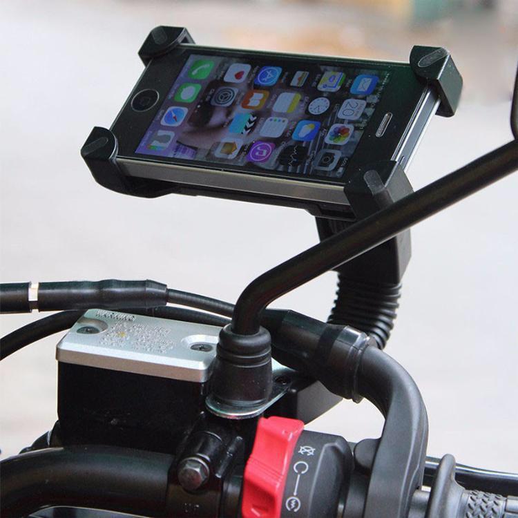 Giá đỡ điện thoại kẹp 4 góc gắn kính chiếu hậu xe máy - HÀNG LOẠI 1
