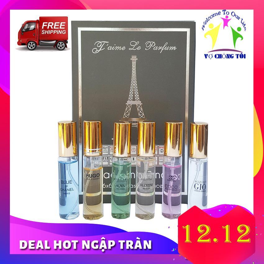 Bộ Nước Hoa Mini Nam Nữ Unisex Jaime Le Parfum 6 mùi nước Pháp Cao Cấp - HÀNG TỐT Giá Hạt Dẻ