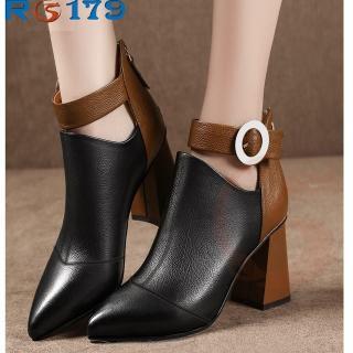 Giày boot bốt nữ đẹp hàng hiệu Rosata-quai hậu RO179 thumbnail