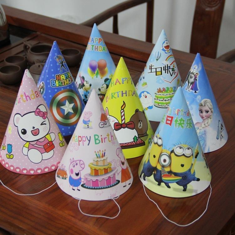 Hình ảnh Combo 6 mũ sinh nhật cho bé