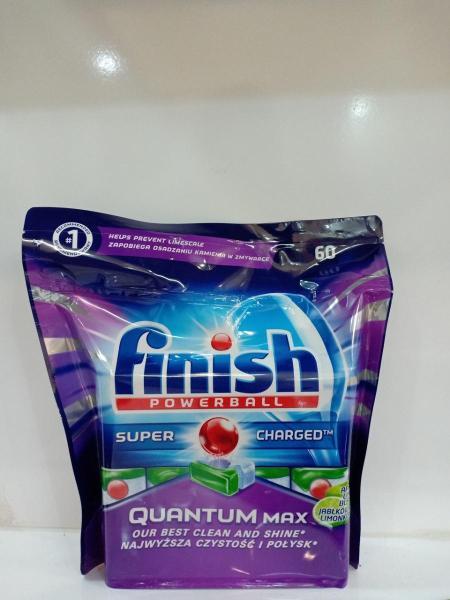 Viên rửa bát Finish Đức tích hợp muối và nước làm bóng super Quantum Max 60 viên